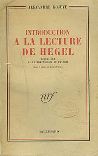 <i>Introduction to the Reading of Hegel</i> book by Alexandre Kojève