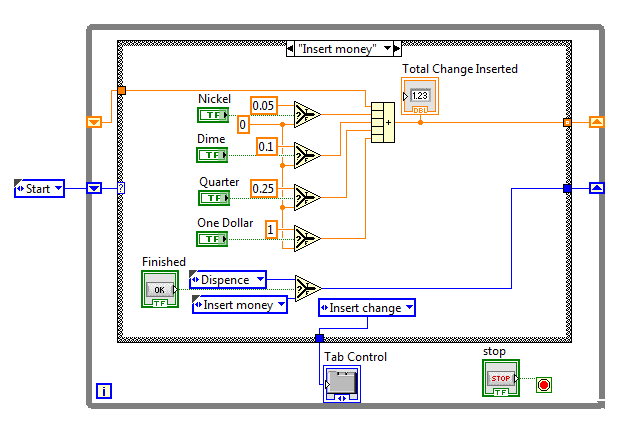 Labview slot machine example