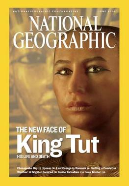 The facial reconstruction of Tutankhamun as sh...