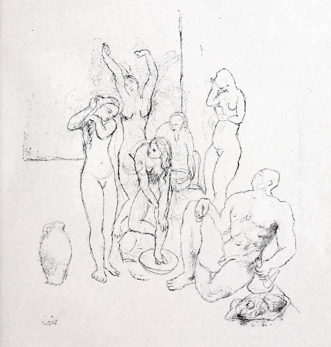 File Pablo Picasso 1905 Nus Nudes Pencil On Paper Jpg Wikipedia