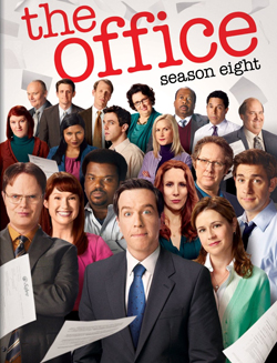 The image is of the season cover. It features almost every character that appeared during the season, centered around Ed Helms.