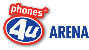 Phones 4u Arena logo used from 2013 to 2015 Phones4u Arena.png