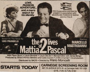 The Two Lives of Mattia Pascal - Wikipedia