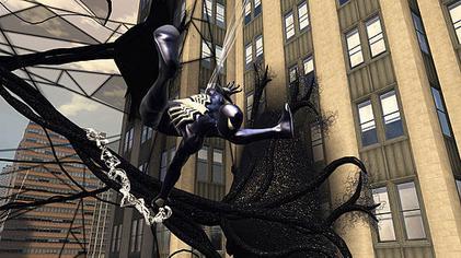 Spidey Web-swings Through an