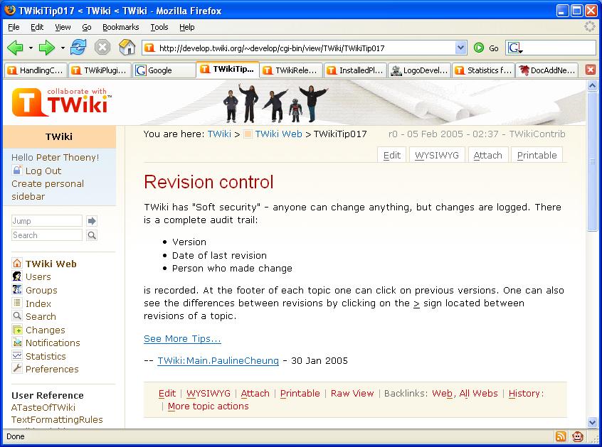 846 629 81 kb peterthoeny talk contribs twiki screenshot page
