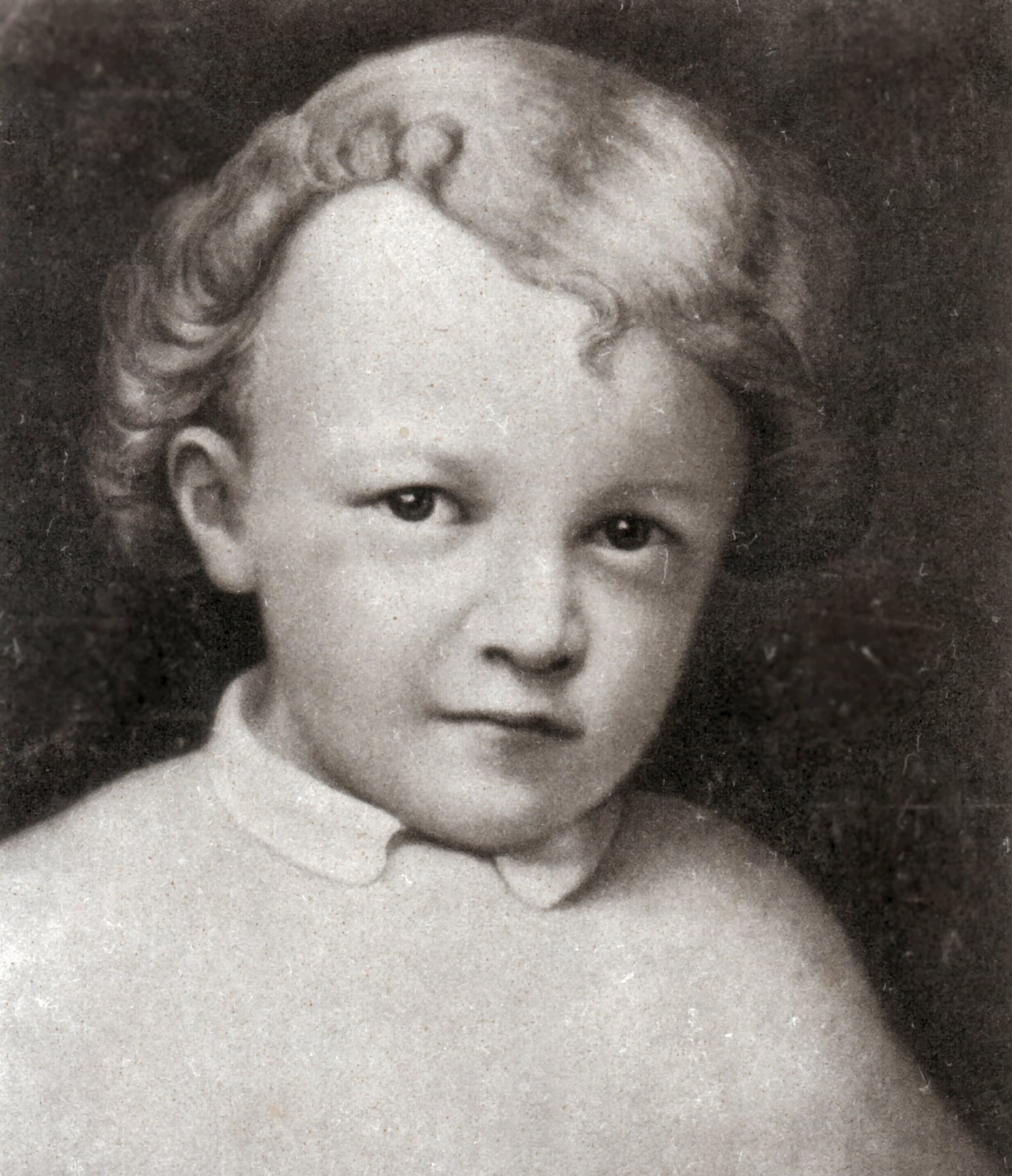 A portrait of Lenin at around age 4