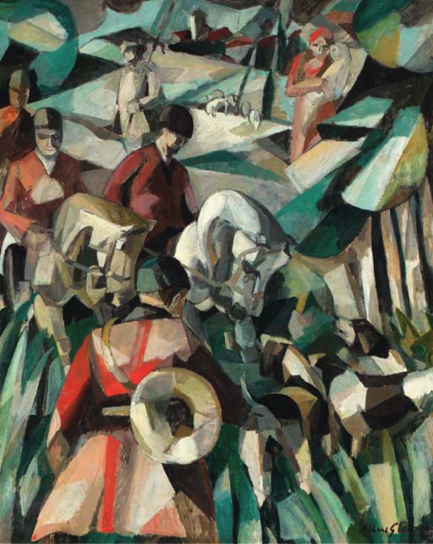 Albert Gleizes La Chasse 1911 Oil On Canvas 1232 X 99 Cm Artist