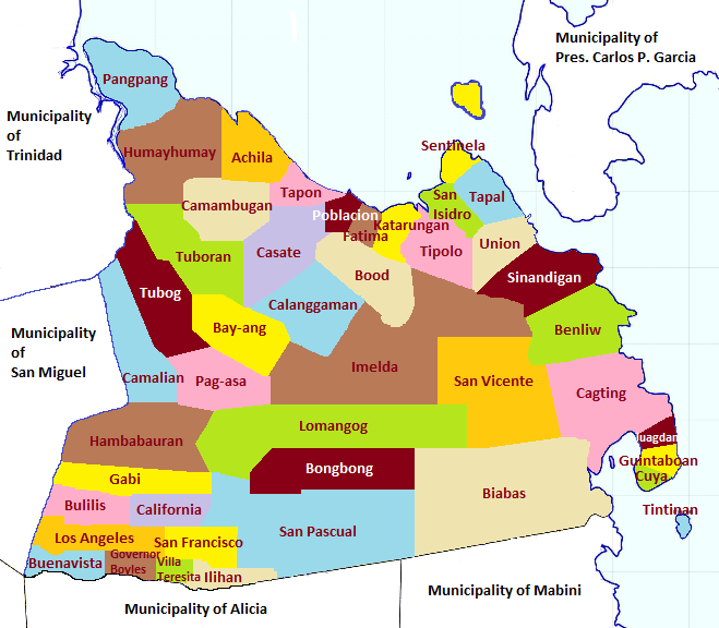 Map Of Bohol Island Philippines