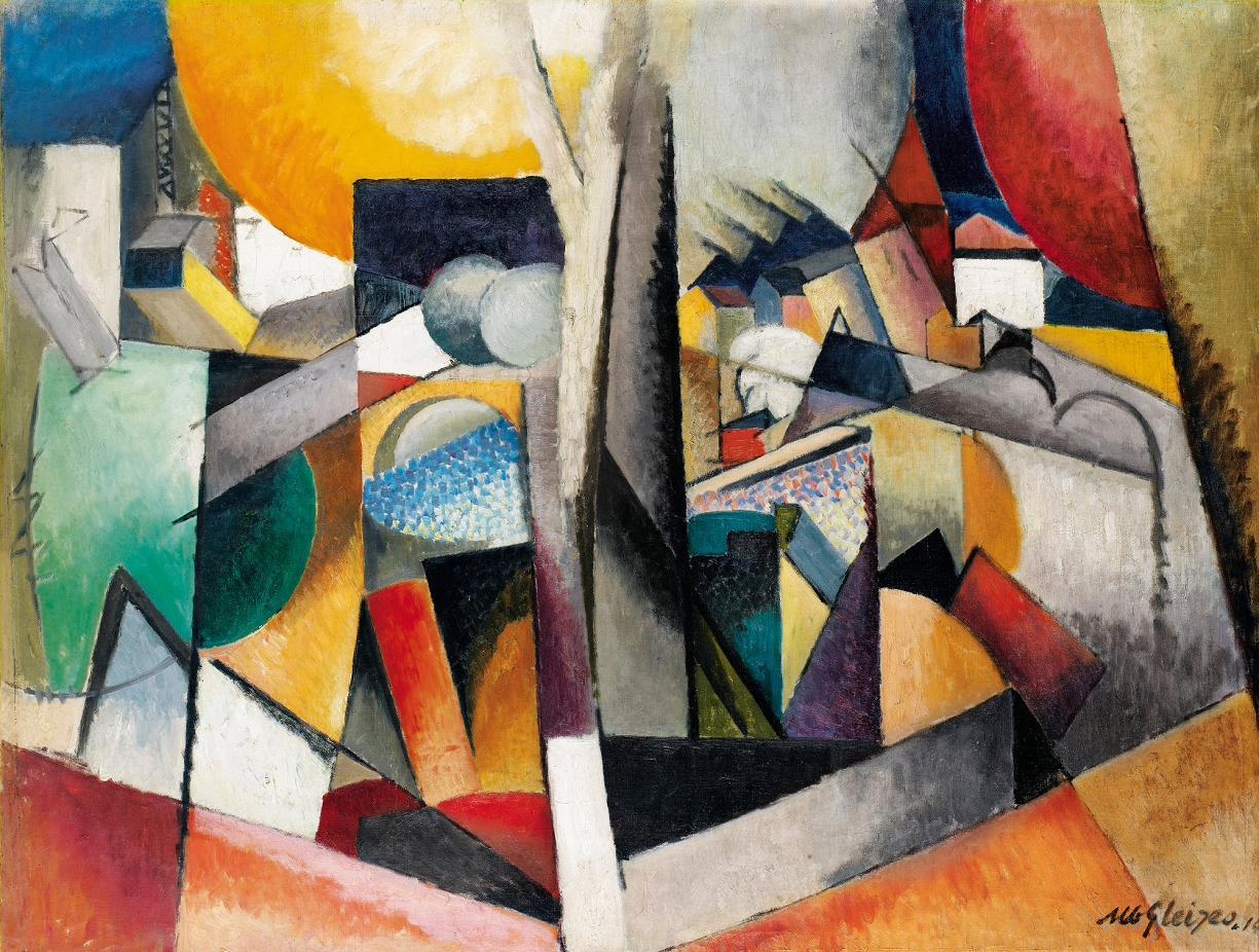 filealbert gleizes 1914 paysage cubiste oil on canvas