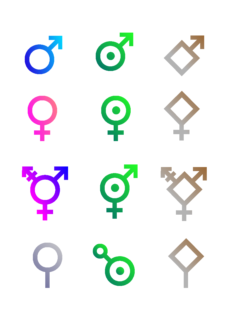 Gender symbols text clipart library file sf gender symbols png wikipedia gender symbol in word female gender symbol text buycottarizona Choice Image