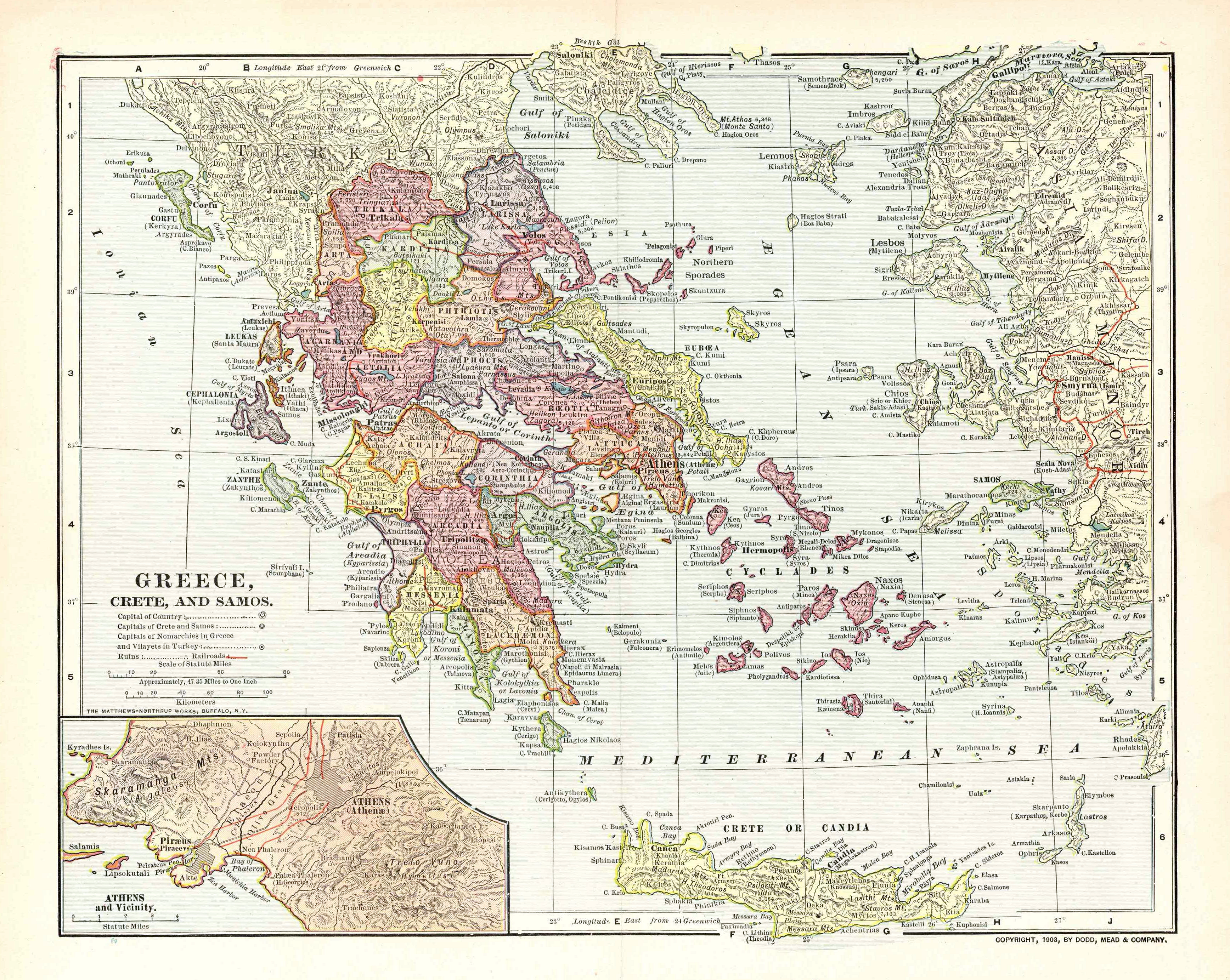Greece Map Images.File Map Of Greece 1903 Png Wikipedia