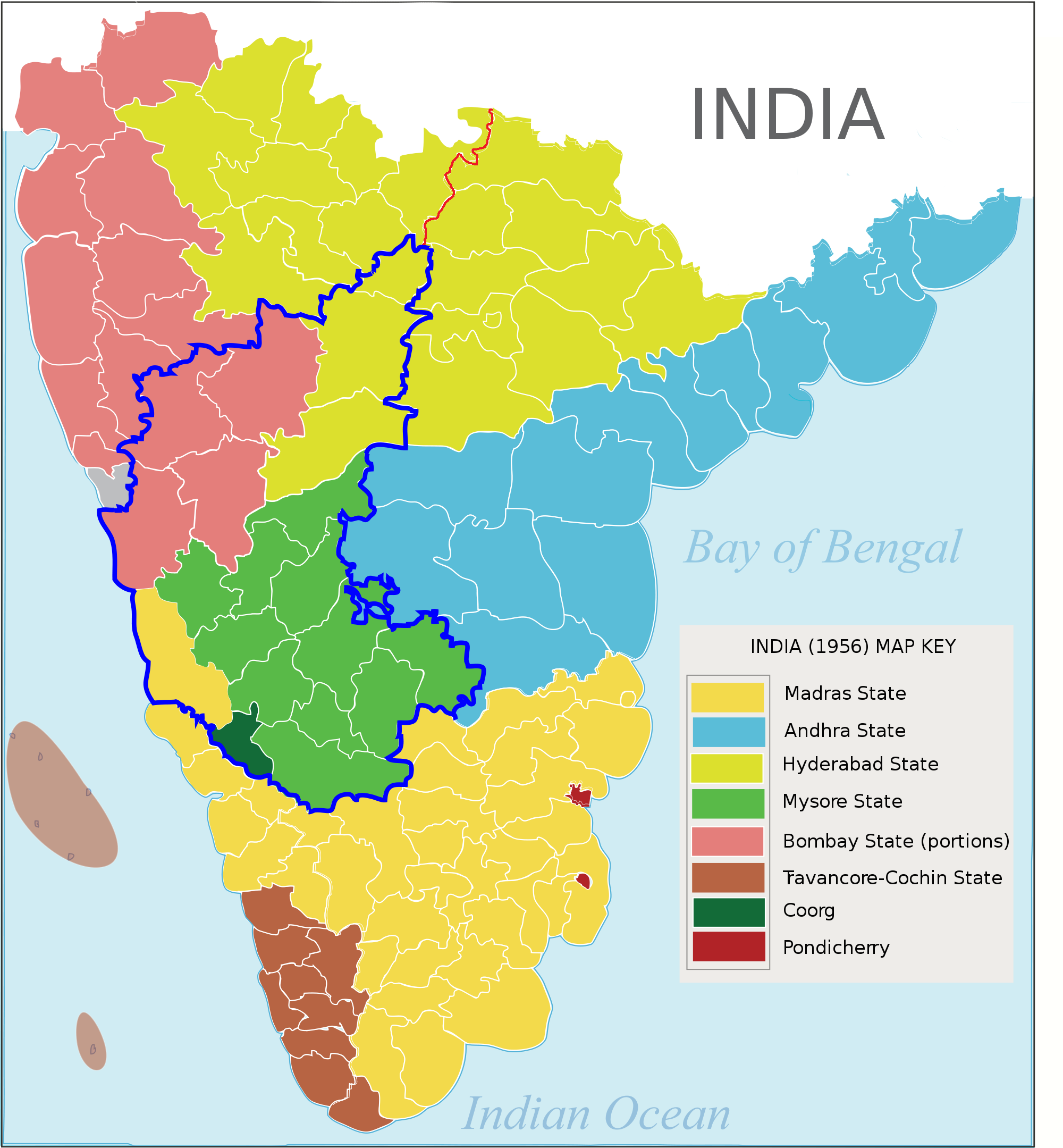 hyderabad karnataka map of south hyderabad karnataka region highlighted in blue borders