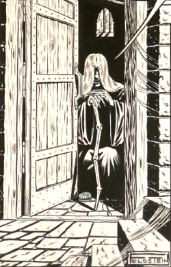 The Crypt-Keeper as rendered by Al Feldstein for Crime Patrol #15