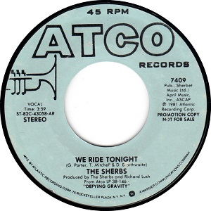 We Ride Tonight song performed by Sherbet