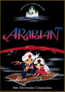 Japanese arcade flyer of Arabian.
