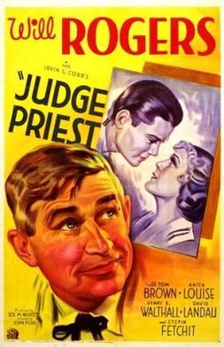 Judge Priest Will Rogers vintage movie poster