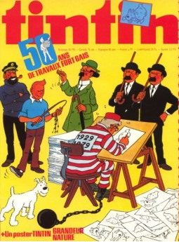 An issue of Tintin magazine celebrating the 50th anniversary of The Adventures of Tintin (1979).