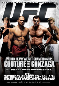 A poster or logo for UFC 74: Respect.