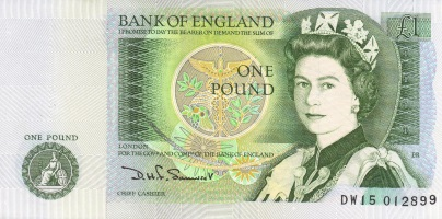 Bank of England £1 note - Wikipedia
