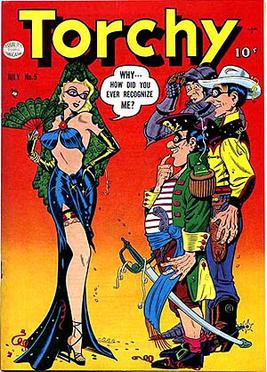Torchy #5 (July 1950) cover art by Bill Ward.