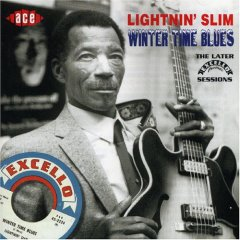 Lightnin' Slim on the cover of his Ace Records...