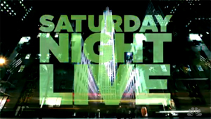 The Saturday Night Live title card as featured...