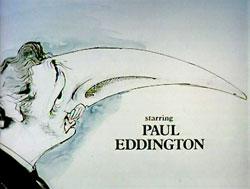 Gerald Scarfe's caricature of Paul Eddington as Hacker