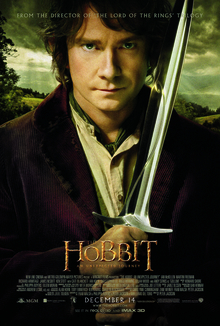 The official poster for The Hobbit, An Unexpected Journey