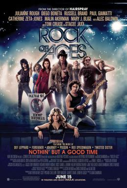 Movie release poster for Rock of Ages, courtesy New Line Cinema, Material Pictures, Corner Stone Entertainment, Offspring Entertainment, Warner Bros. Pictures