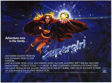 Film poster for Supergirl - Copyright 1984, Tr...