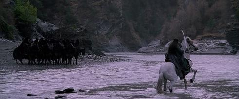 Arwen faces the Nazgul at the Fords of Bruinen (Arrow River). Arwen and Ringwraiths.jpg