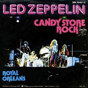 LED ZEPPELIN - CANDY STORE ROCK LYRICS
