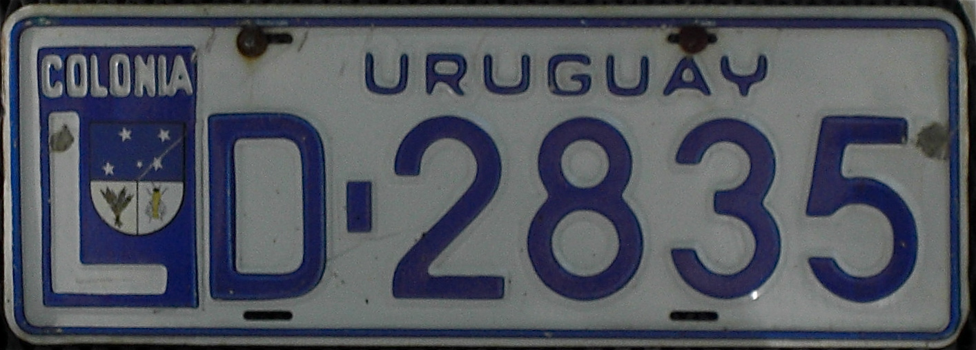File:Colonia Department vehicle registration plate.jpg - Wikipedia