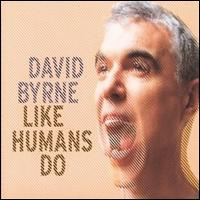 A pixelated picture of David Byrne's face with him screaming