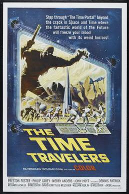 "Theatrical release poster for SciFi film ""The Time Travelers"" (1964)"