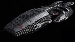 A Battlestar (the Battlestar Galactica) from t...