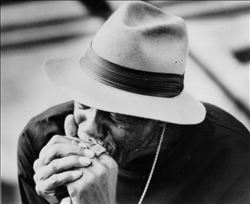 Frank Frost American delta blues harmonica player