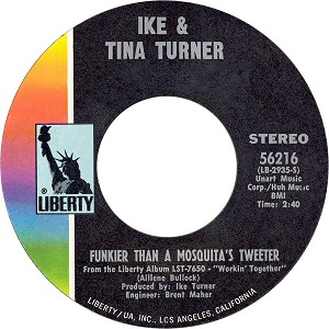 Funkier Than a Mosquitos Tweeter (song) 2021 single by Ike & Tina Turner