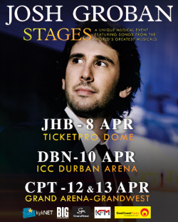 Josh Groban on Stage Concert tour