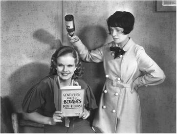 Jean Harlow with Anita Loos