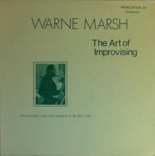 <i>The Art of Improvising</i> 1974 live album by Warne Marsh