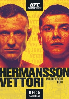 UFC on ESPN: Hermansson vs. Vettori Fight Poster