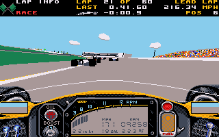 Indianapolis 500 User Interface