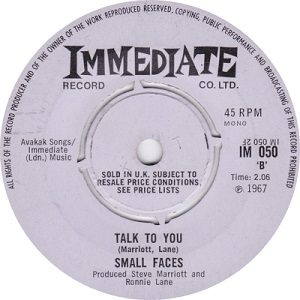 Talk to You 1967 song by Small Faces