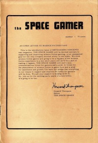 <i>The Space Gamer</i> Science fiction and fantasy games magazine