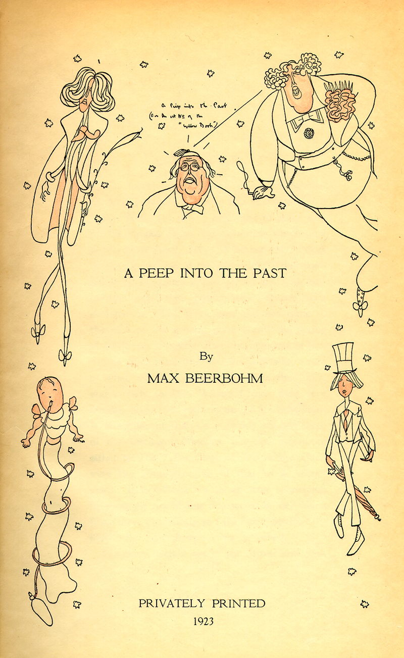 GOING OUT FOR A WALK By Max Beerbohm