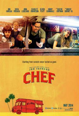 Movie release poster for Chef, courtesy Open Road Films