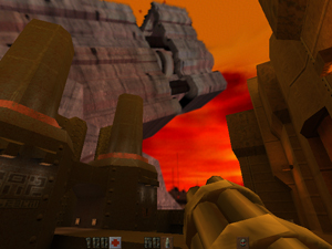 A screenshot of Quake II