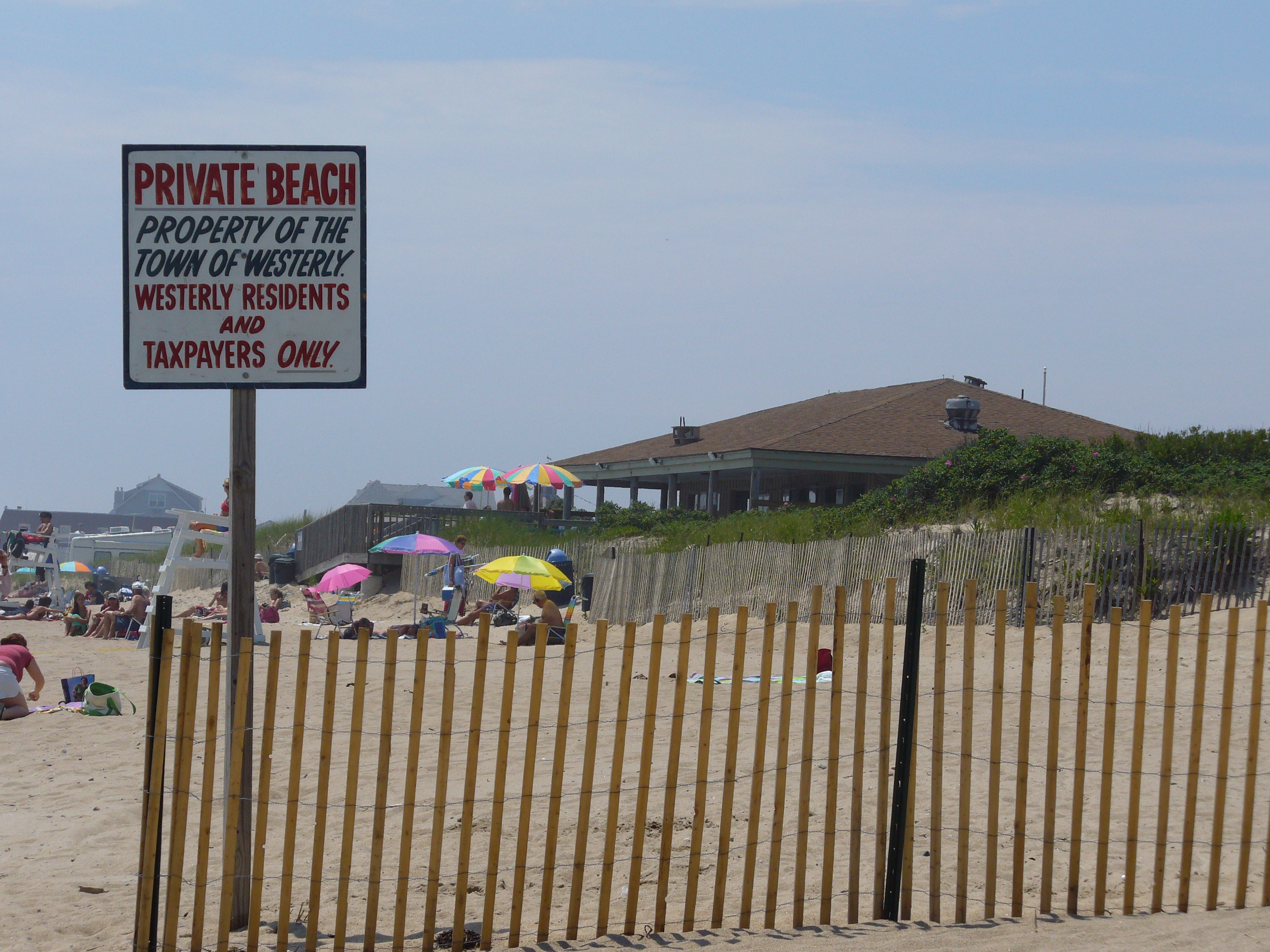Westerly Town Beach On Atlantic Ave In