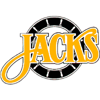 "Baltimore Skipjacks logo showing the word ""jacks"" written on a ship's wheel"